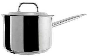 Photo of a metal saucepan.